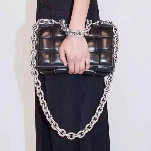 Eliza Quilted Chain Handle Bag