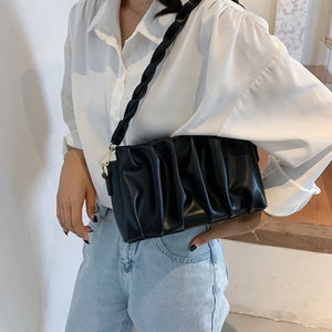 Pleated Shoulder Bag