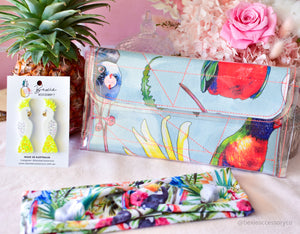 Schudio Mini Clutch bag - Birds of Parrot-dise