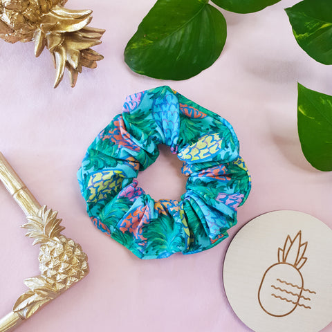 Scrunchie - Blue Pineapples