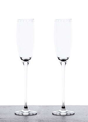 Set of 2 Champagne Glasses
