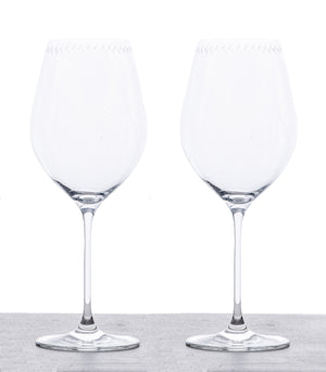 Set of 2 Bordeaux Red Wine Glasses