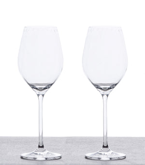 Set of 2 White Wine Glasses