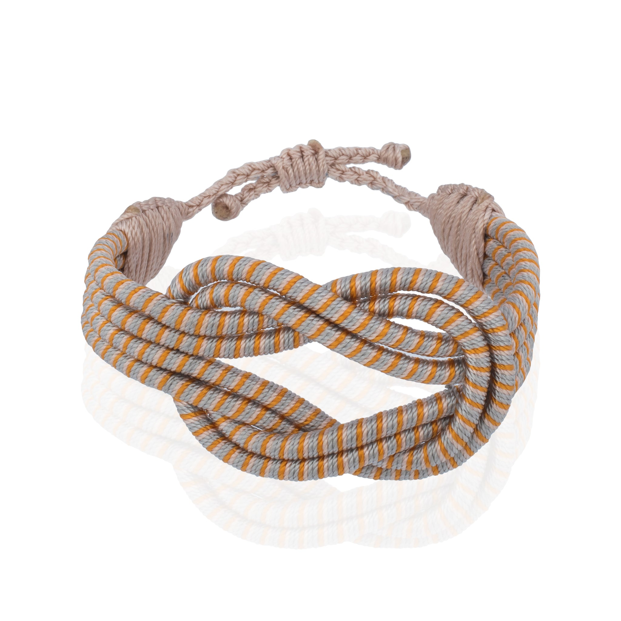 Open Knot Bracelet - Stripe Gold