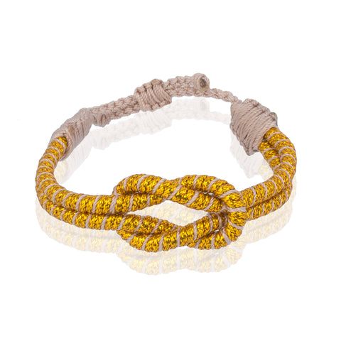 Open Knot Bracelet - Two Strand Gold