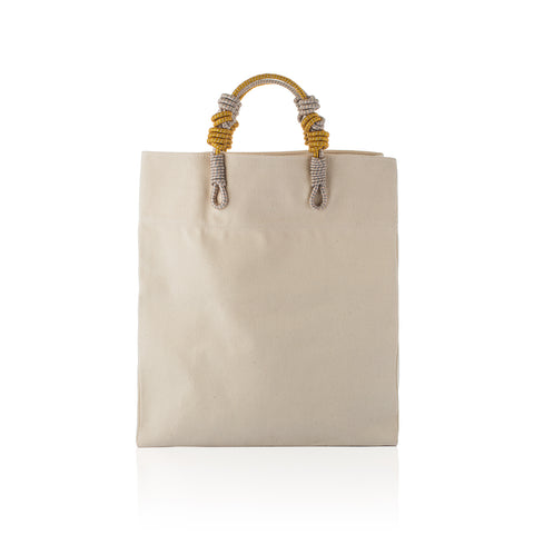 3 Knot Market Tote- Gold natural