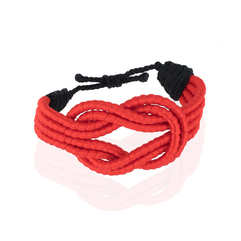 Open Knot Bracelet - Red