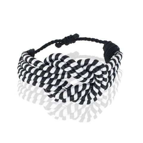 Open Knot Bracelet - Black & White