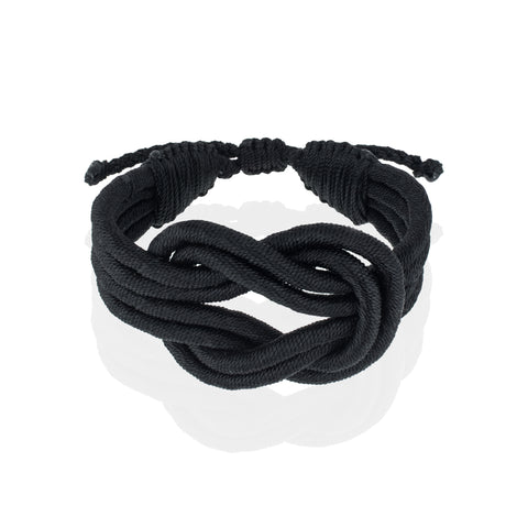 Open Knot Bracelet - Black