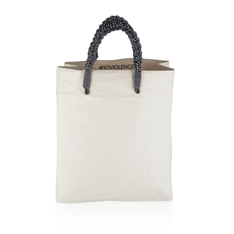 Braided Market Tote- White