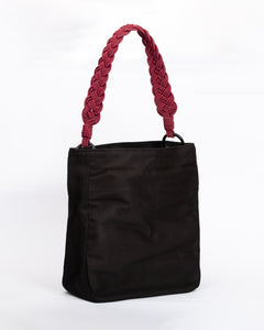 Lucrecia shoulder bag- Fuschia Braided straps