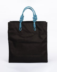 3 Knot Market Tote- Blue combination