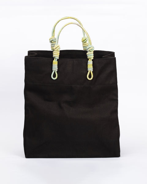 3 Knot Market Tote- Green combination