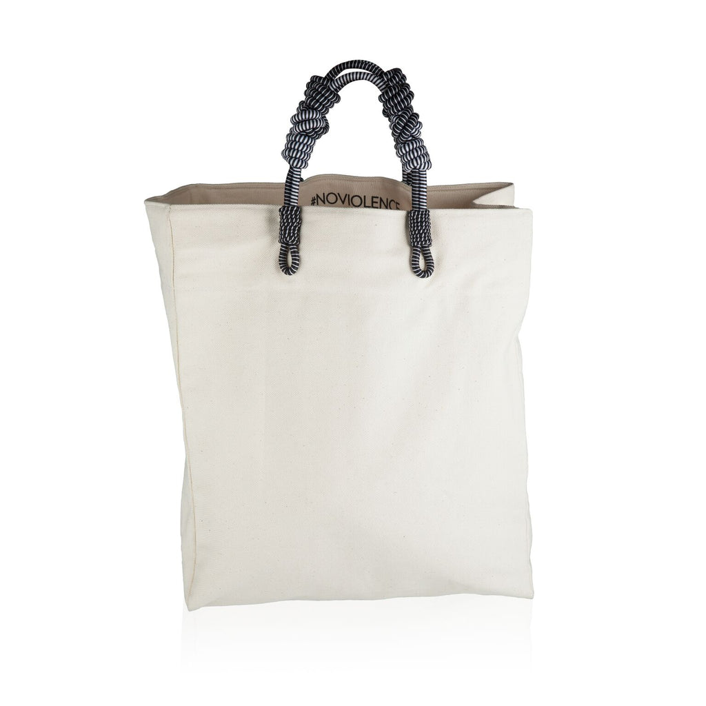 3 Knot Market Tote White Sequence Collection
