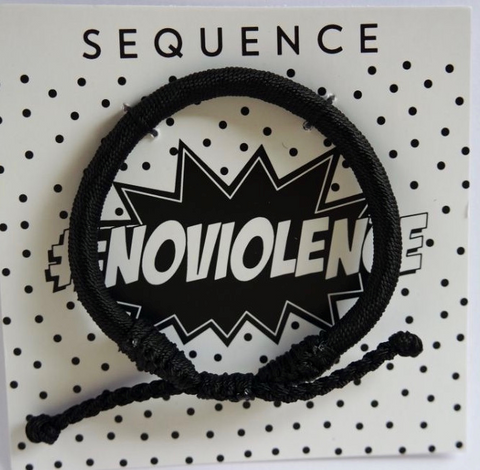 Sequence #Noviolence Bracelet- black