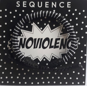Sequence #Noviolence Bracelet- black & white