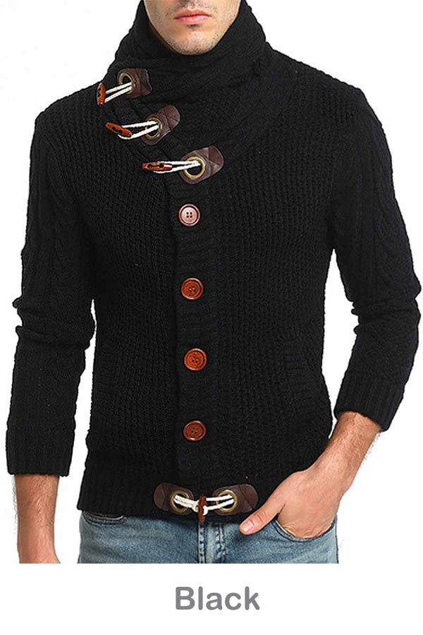 Aptro Men's Cardigan Sweater