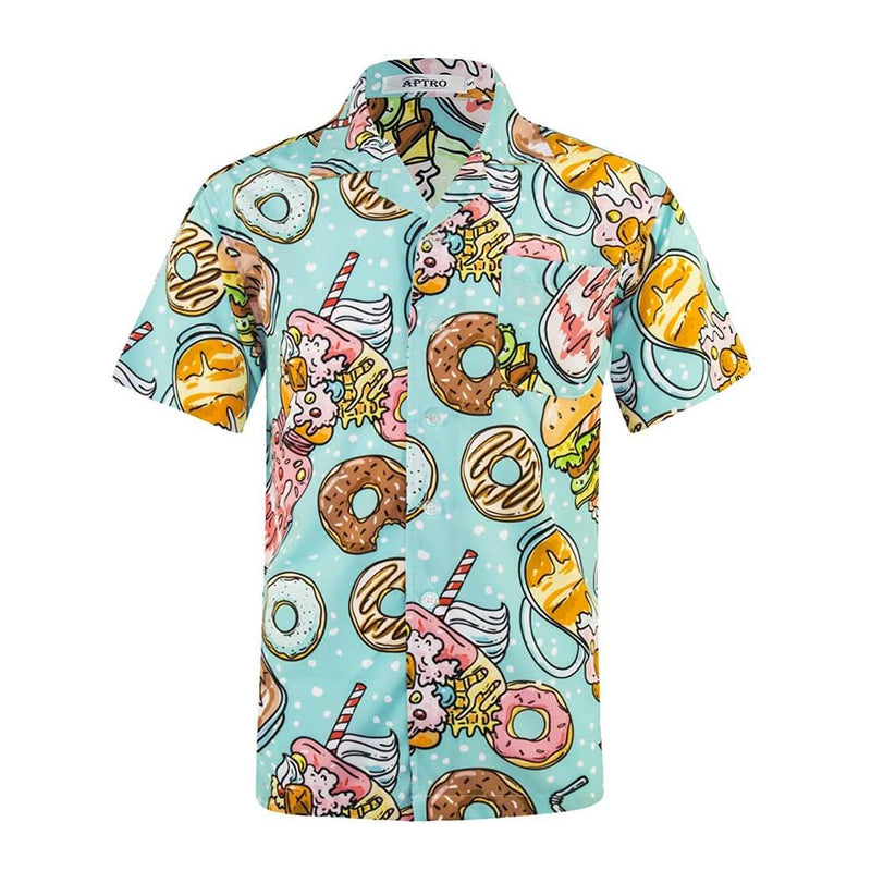 Men's Funny Christmas Hawaiian Shirt 027 - Aptro Fashion