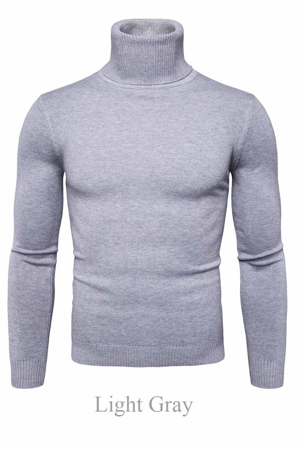 Aptro Men's Slim Solid Sweater
