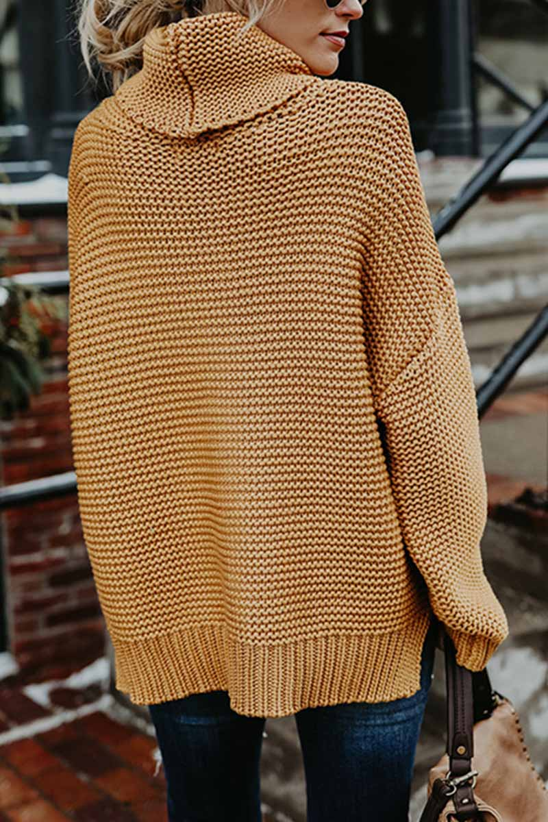 Aptro New Loose Style Turtleneck Sweater