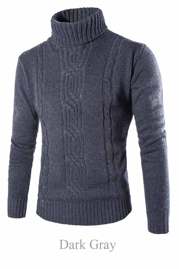 Men's British Casual Solid Sweater