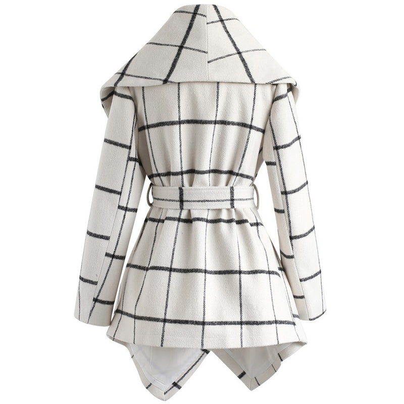 Women's New Fashion Loose Check Coat (3 Colors)