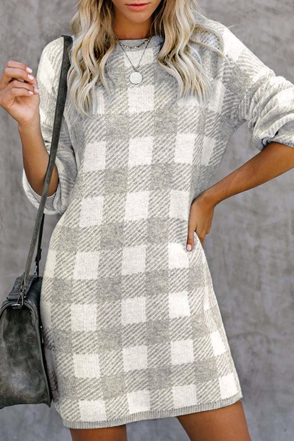 Aptro Plaid Dress