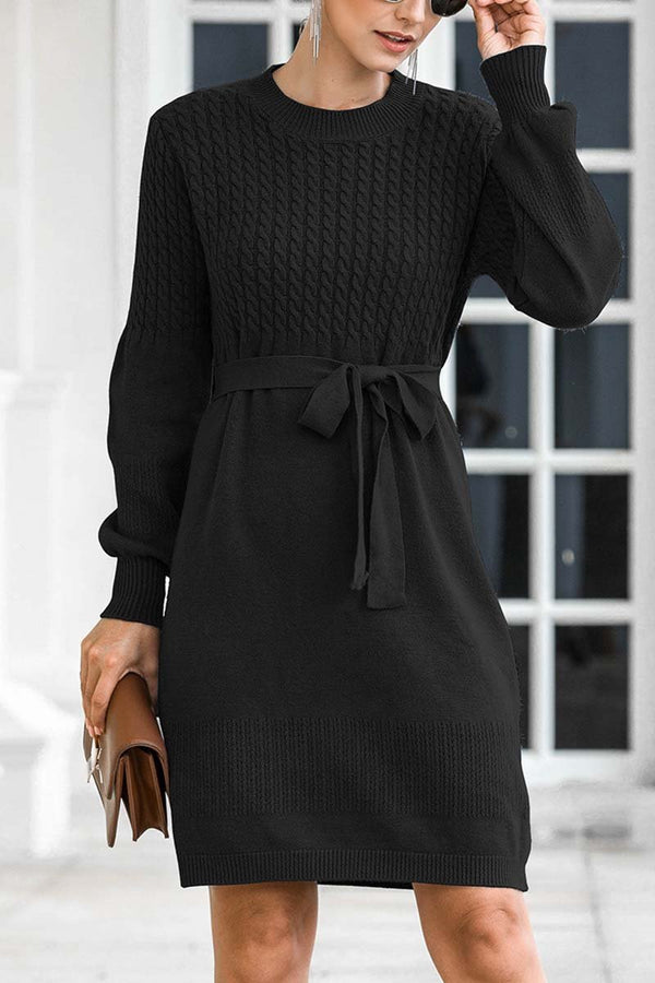 Aptro Winter Knit Sweater Dress