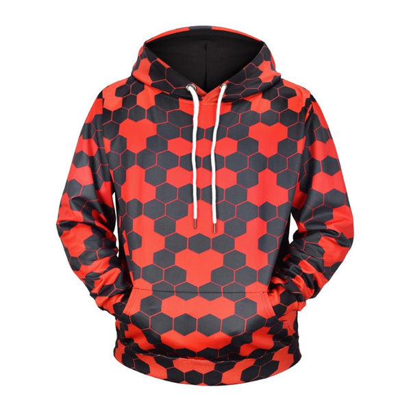 Black & Red Plaid Printed Hoodies & Sweatshirts - Aptro