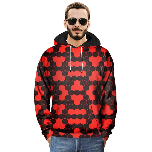 Black & Red Plaid Printed Hoodies & Sweatshirts - Aptro Fashion