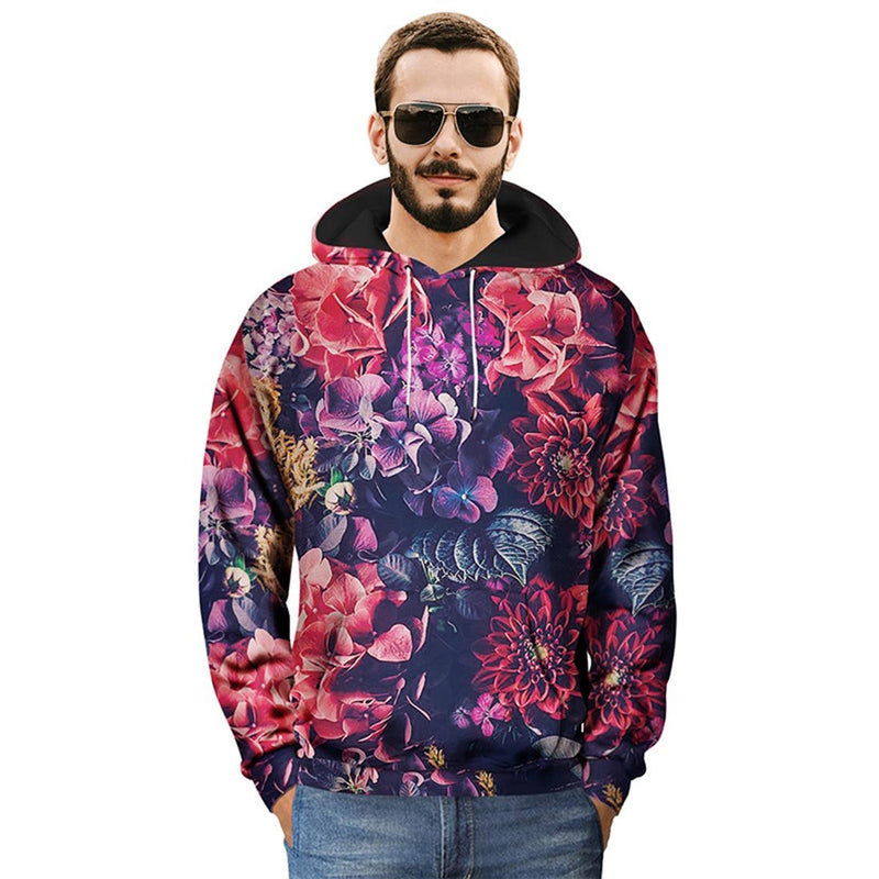 Flower Printed Hoodies & Sweatshirts - Aptro