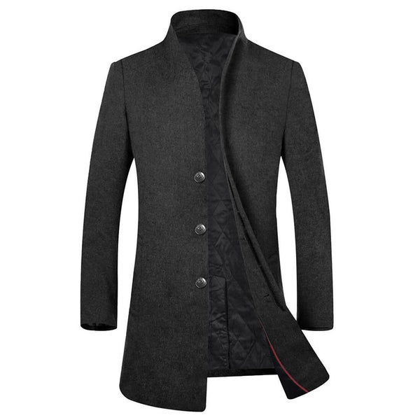 Aptro Men's Business Suits Long Top Coat Jacket