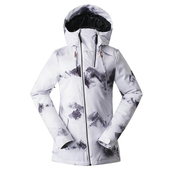 Women's Windproof Multicolored Ski Jacket Mountain Rain Jacket