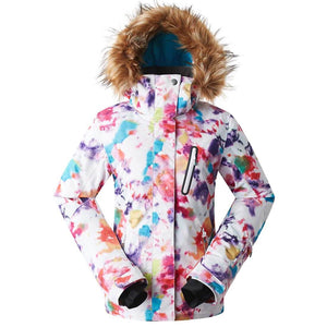 Women's Windproof Multicolored Ski Jacket Mountain Rain Jacket - Aptro Fashion