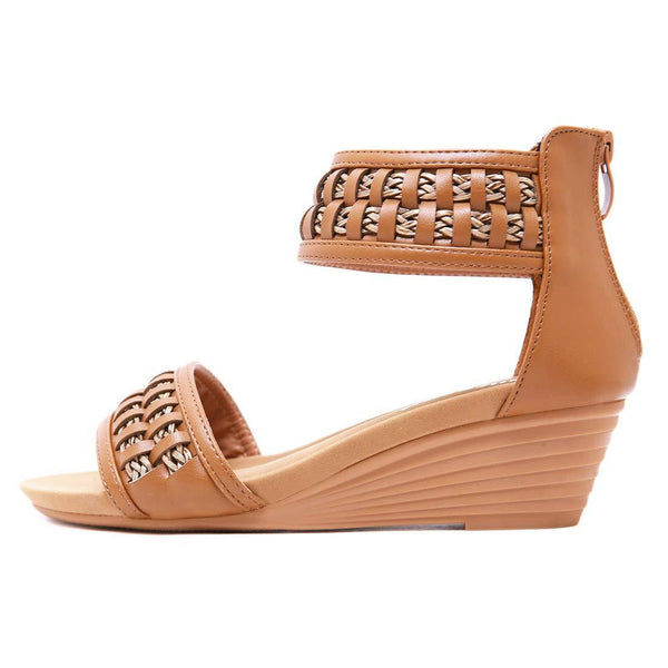 Braided Bohemian Brown Women's Sandals - Aptro