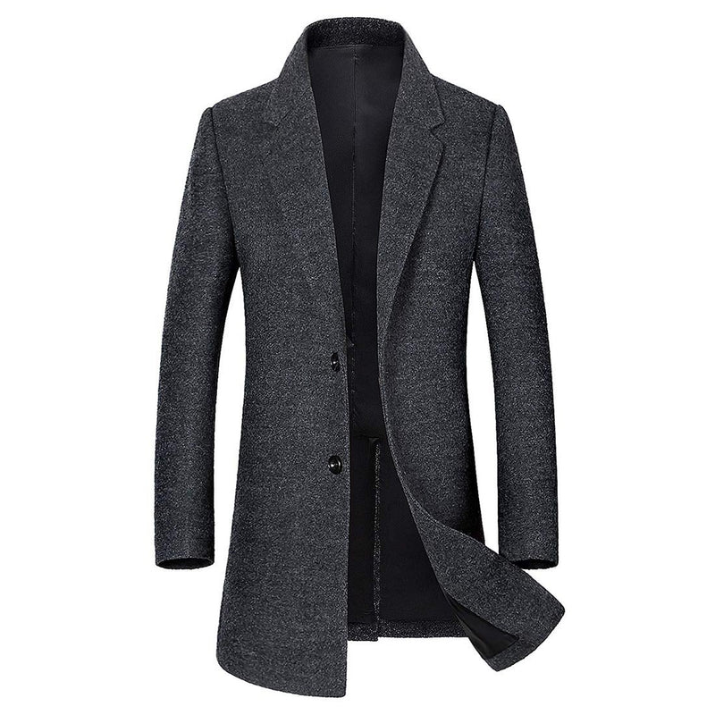 Men's Classic Single Breasted Wool Walker Coat Stylish Jacket - Aptro