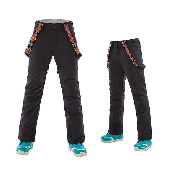 Women's/Girls Waterproof Snow Pants Removable Suspenders Ski Pants - Aptro