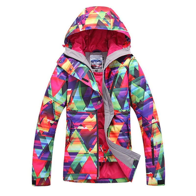 Women's Waterproof Ski Snowboarding Jacket Mountain Rain Jacket - Aptro