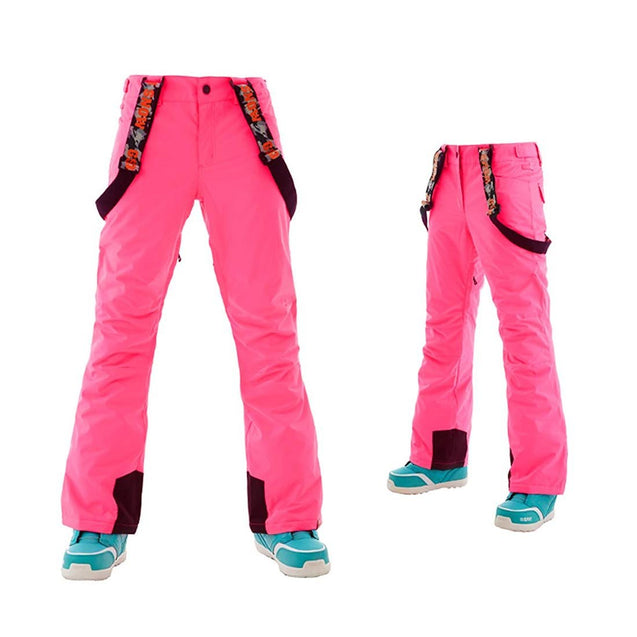 Women's/Girls Waterproof Snow Pants Removable Suspenders Ski Pants - Aptro Fashion