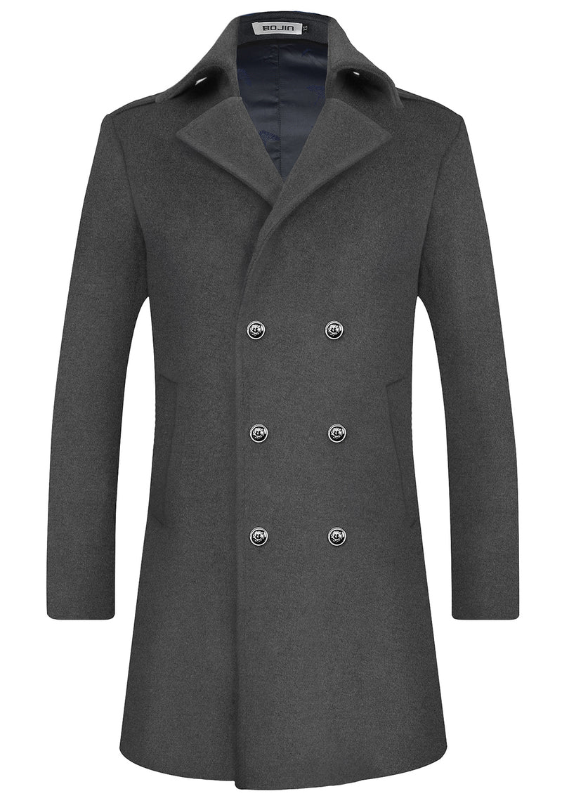 Men's Army Style Woolen Coat