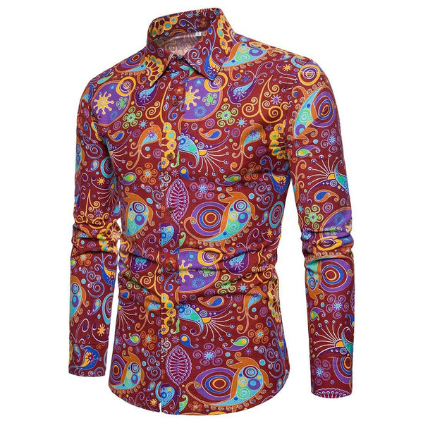 Men's Popular Long Sleeve Casual Shirt - Aptro