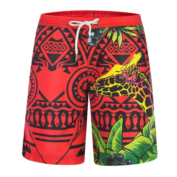Aptro Men's Red Swim Trunks - Aptro