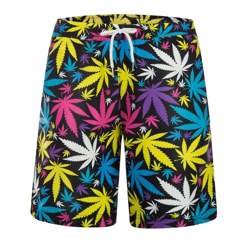 Aptro Men's Swim Trunks Colorful Maple Leaf - Aptro