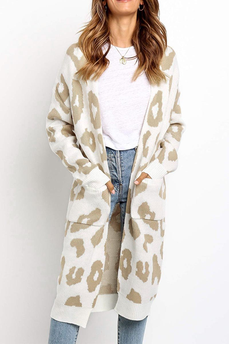 Aptro Leopard Print Sweet Comfy Cardigan Tops Sweater(3 Colors)