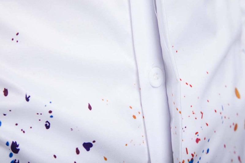 2019 Ink Splashing 3D Print Shirt - Aptro Fashion