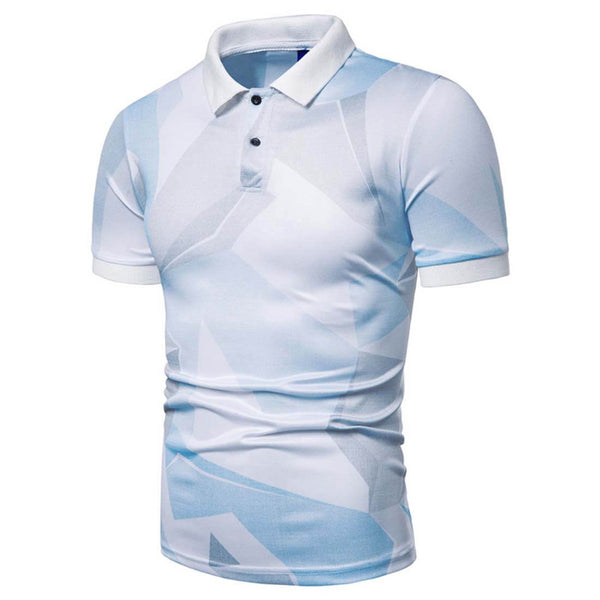 Casual Fashion Print Short Sleeve T-Shirt POLO Shirt - Aptro