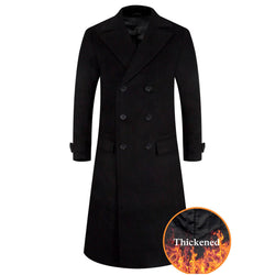 Aptro black men wool coat