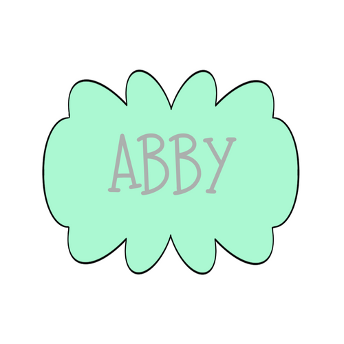Abby Plaque Cookie Cutter