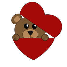 Load image into Gallery viewer, Bear in Heart Cookie Cutter