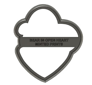 Bear in Heart Cookie Cutter